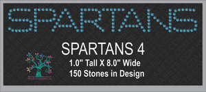 Spartans Word  4 ,TTF Rhinestone Fonts & Rhinestone Designs
