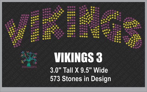 Vikings Word  Rhinestone TTF  Alphabets and Rhinestone Designs