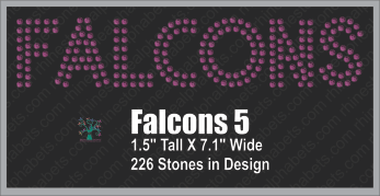 Falcons Word 5 ,TTF Rhinestone Fonts & Rhinestone Designs