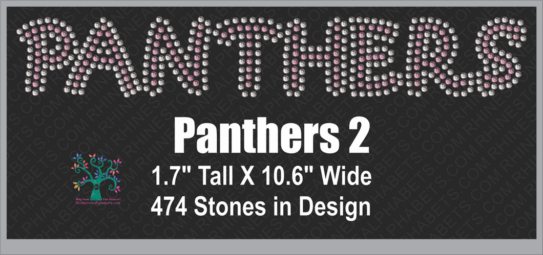 Panthers Word  2 ,TTF Rhinestone Fonts & Rhinestone Designs