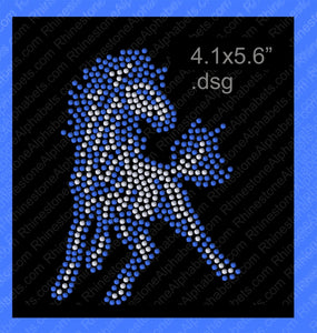 Mustang Mascot for .dsg file ,TTF Rhinestone Fonts & Rhinestone Designs
