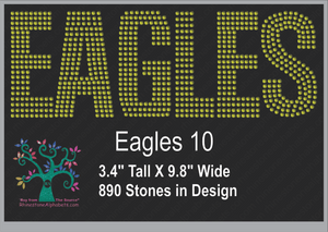 Eagles Words 10 ,TTF Rhinestone Fonts & Rhinestone Designs