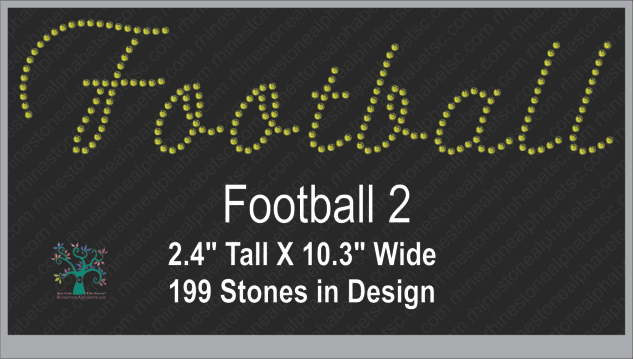 Football Word 2 ,TTF Rhinestone Fonts & Rhinestone Designs
