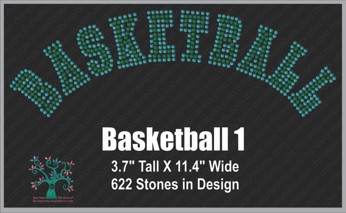 Basketball Word 1 ,TTF Rhinestone Fonts & Rhinestone Designs