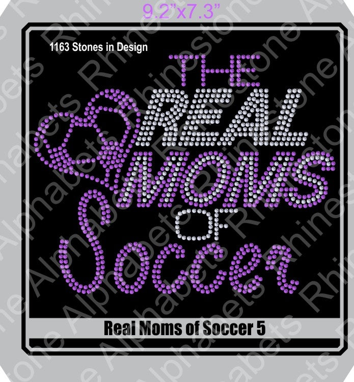Real Moms of Soccer 5 ,TTF Rhinestone Fonts & Rhinestone Designs