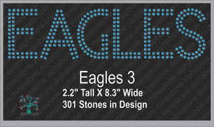 Eagles Words 3 ,TTF Rhinestone Fonts & Rhinestone Designs