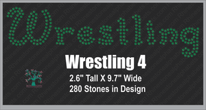 Wrestling Word 4 Rhinestone TTF  Alphabets and Rhinestone Designs