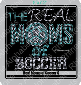 Real Moms of Soccer 6 ,TTF Rhinestone Fonts & Rhinestone Designs