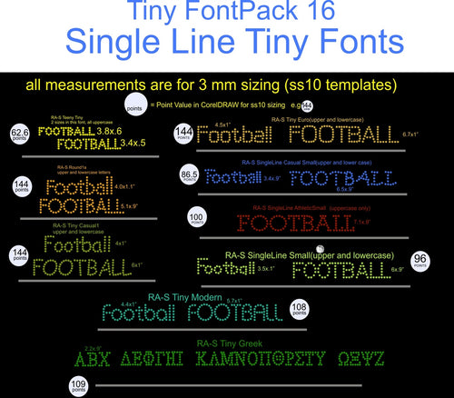 Tiny Font Pack 16 Download Only ,TTF Rhinestone Fonts & Rhinestone Designs