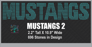 Mustangs Word 2 ,TTF Rhinestone Fonts & Rhinestone Designs