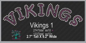 Vikings Word 1 Rhinestone TTF  Alphabets and Rhinestone Designs