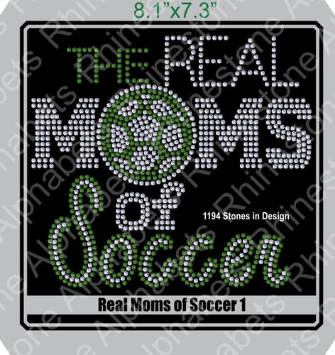 Real Moms of Soccer 1 ,TTF Rhinestone Fonts & Rhinestone Designs