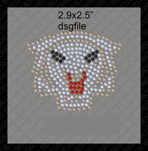 Tiny Wildcats 1 DSG File Rhinestone TTF  Alphabets and Rhinestone Designs