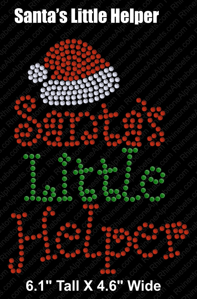 Santa's Little Helper ,TTF Rhinestone Fonts & Rhinestone Designs