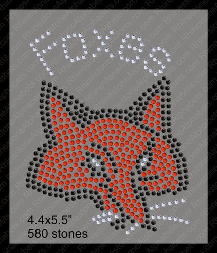 Tiny Foxes ,TTF Rhinestone Fonts & Rhinestone Designs