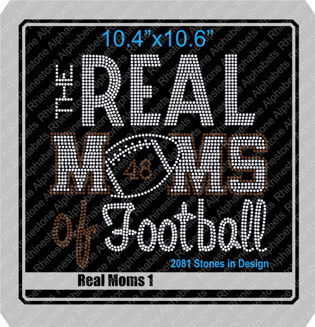 Real Moms of Football 1 ,TTF Rhinestone Fonts & Rhinestone Designs