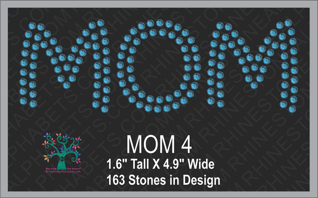 MOM Word 4 ,TTF Rhinestone Fonts & Rhinestone Designs