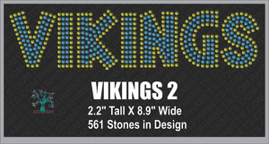 Vikings Word 2 Rhinestone TTF  Alphabets and Rhinestone Designs