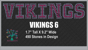 Vikings Word 6 Rhinestone TTF  Alphabets and Rhinestone Designs