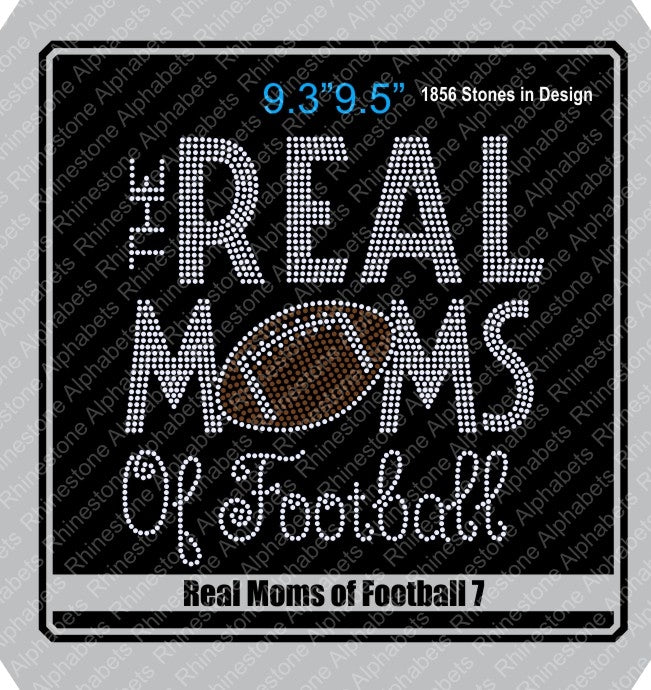Real Moms of Football 7 ,TTF Rhinestone Fonts & Rhinestone Designs