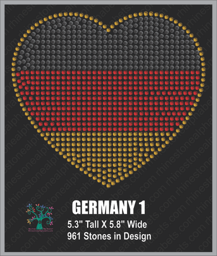 GERMANY  Design 1 ,TTF Rhinestone Fonts & Rhinestone Designs