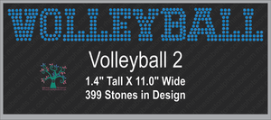 Volleyball Word 2 Rhinestone TTF  Alphabets and Rhinestone Designs