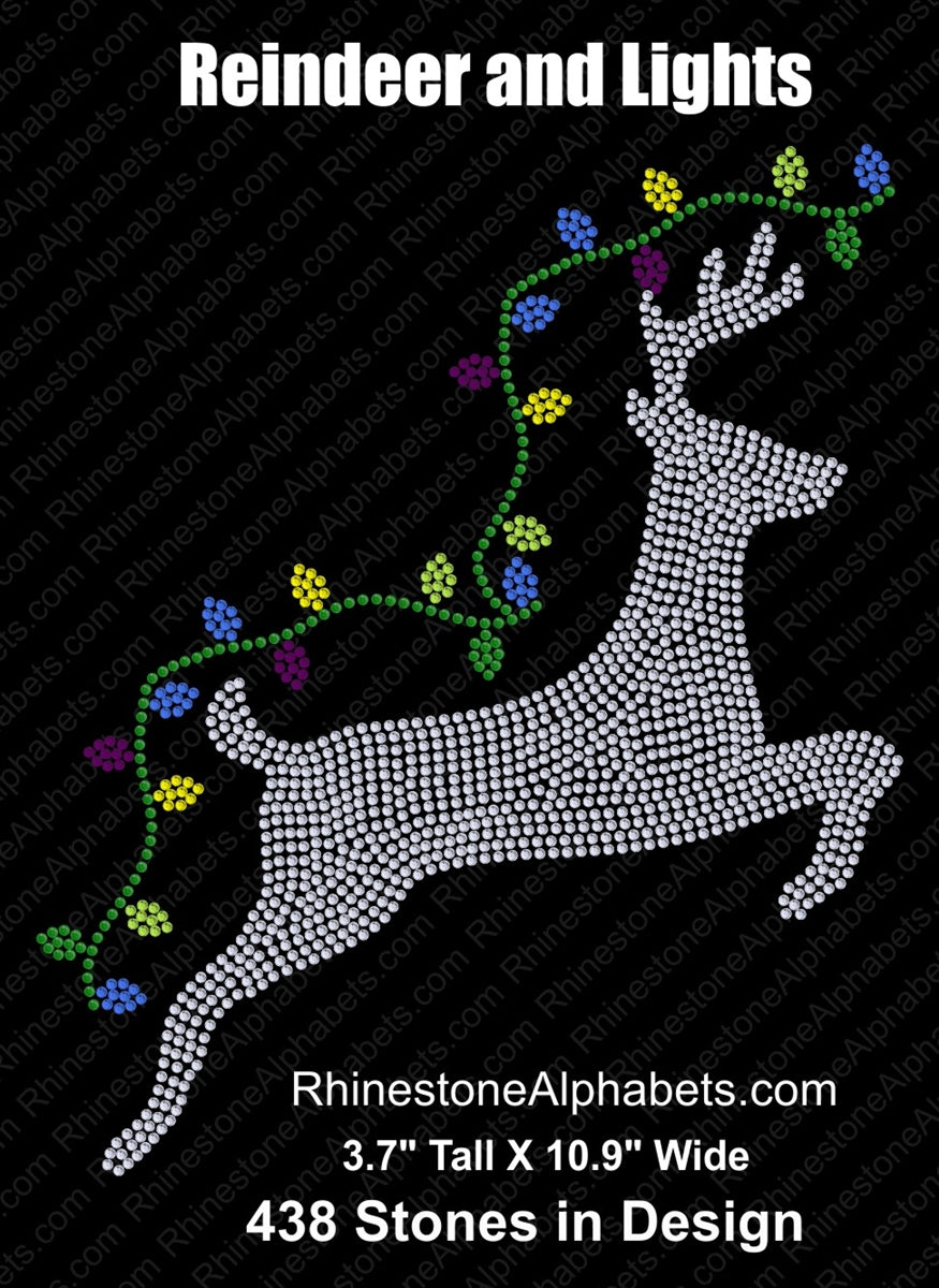 Reindeer and Lights ,TTF Rhinestone Fonts & Rhinestone Designs