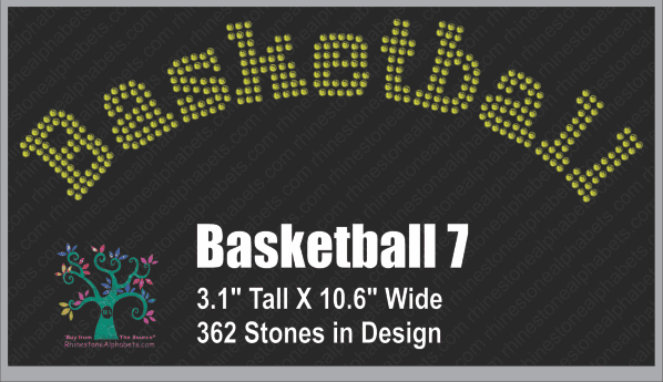 Basketball Word 7 ,TTF Rhinestone Fonts & Rhinestone Designs