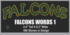 Falcons Words 1 ,TTF Rhinestone Fonts & Rhinestone Designs