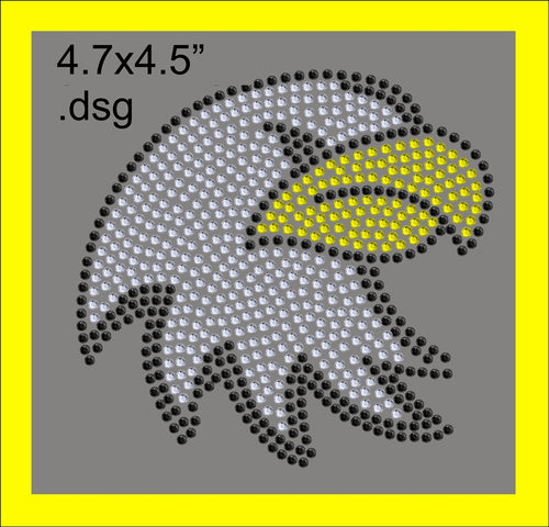 Eagle Mascot for .dsg file ,TTF Rhinestone Fonts & Rhinestone Designs