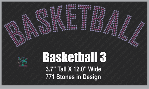 Basketball Word 3 ,TTF Rhinestone Fonts & Rhinestone Designs
