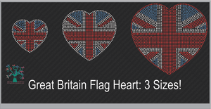 Great Britain: Flag Trio ,TTF Rhinestone Fonts & Rhinestone Designs