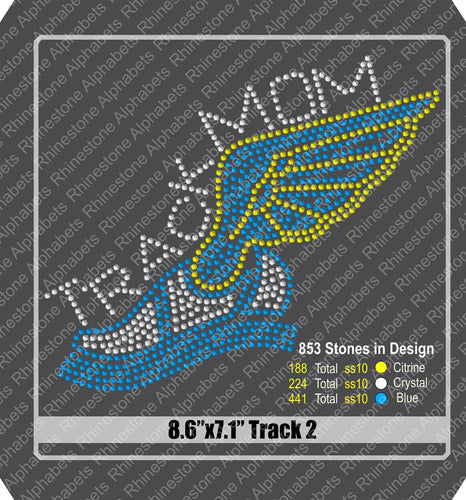 Track 2 Rhinestone TTF  Alphabets and Rhinestone Designs