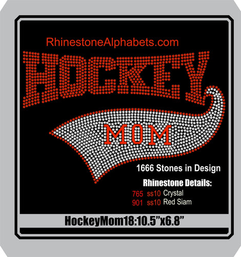 Hockey 18 ,TTF Rhinestone Fonts & Rhinestone Designs