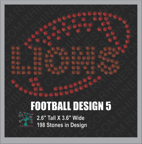 Football Design 5 ,TTF Rhinestone Fonts & Rhinestone Designs