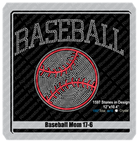 Baseball Mom 17-6 ,TTF Rhinestone Fonts & Rhinestone Designs