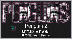 Penguins Word  2 ,TTF Rhinestone Fonts & Rhinestone Designs