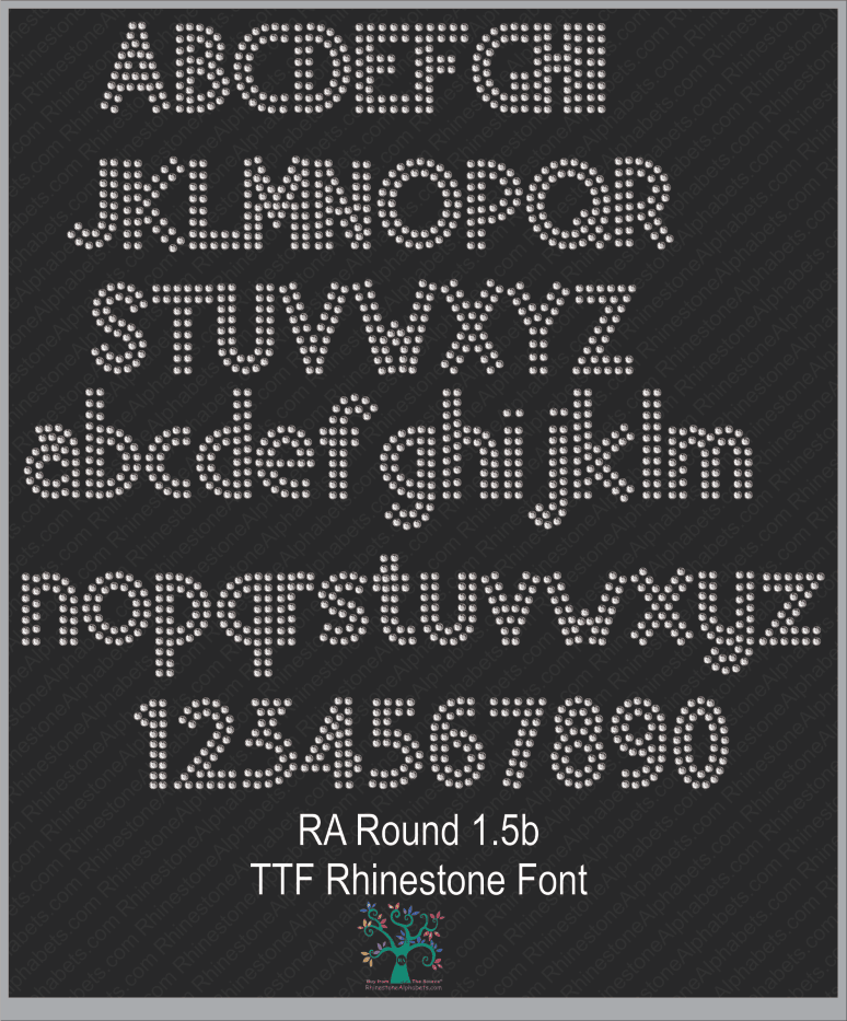 Font Pack 19 Download Only ,TTF Rhinestone Fonts & Rhinestone Designs