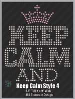 Keep Calm Style 4 ,TTF Rhinestone Fonts & Rhinestone Designs