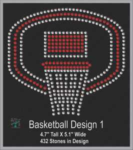 Basketball Design 1 ,TTF Rhinestone Fonts & Rhinestone Designs