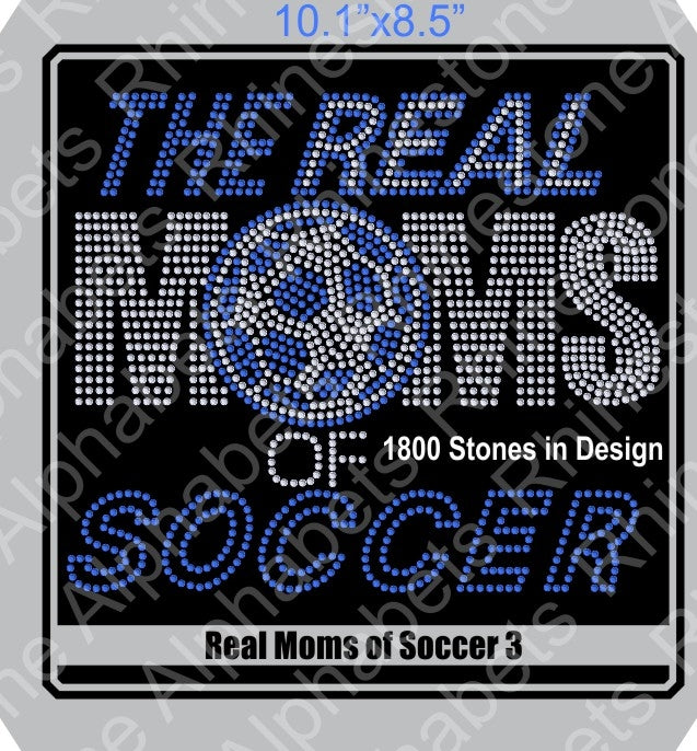Real Moms of Soccer 3 ,TTF Rhinestone Fonts & Rhinestone Designs