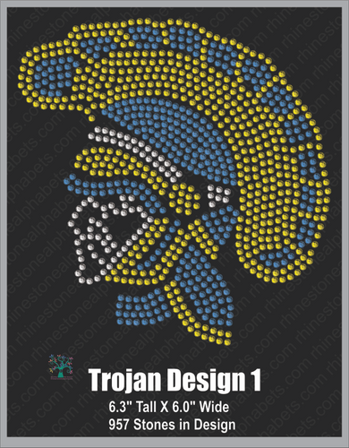 Trojan Design 1 Rhinestone TTF  Alphabets and Rhinestone Designs