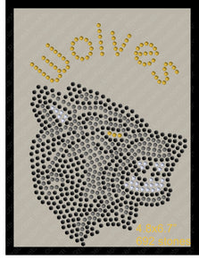 Tiny Wolves Rhinestone TTF  Alphabets and Rhinestone Designs