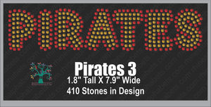 Pirates Word 3 ,TTF Rhinestone Fonts & Rhinestone Designs