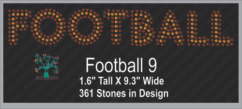 Football Word 9 ,TTF Rhinestone Fonts & Rhinestone Designs