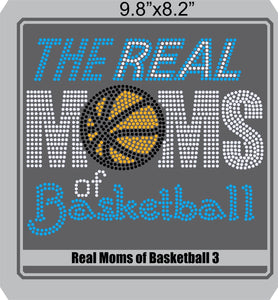 Real Moms of Baskeball Combo ,TTF Rhinestone Fonts & Rhinestone Designs