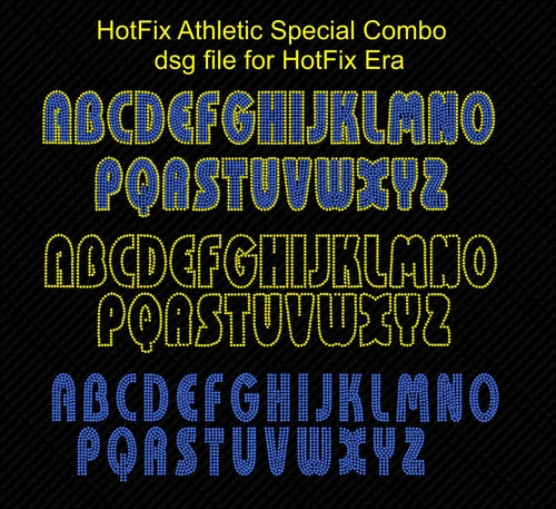 Hot Fix Athletic Special Combo ,TTF Rhinestone Fonts & Rhinestone Designs