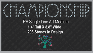 RA SingleLine Art Medium ,TTF Rhinestone Fonts & Rhinestone Designs