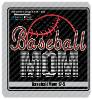 Baseball Mom 17-5 ,TTF Rhinestone Fonts & Rhinestone Designs
