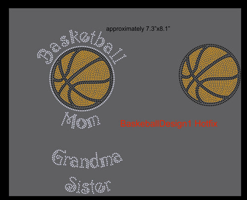 Basketball Design 1 Hotfix ,TTF Rhinestone Fonts & Rhinestone Designs